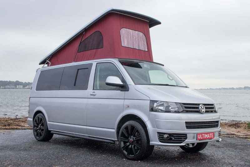 VW Transporter T5 140bhp Camper LWB - Front Right Roof Up