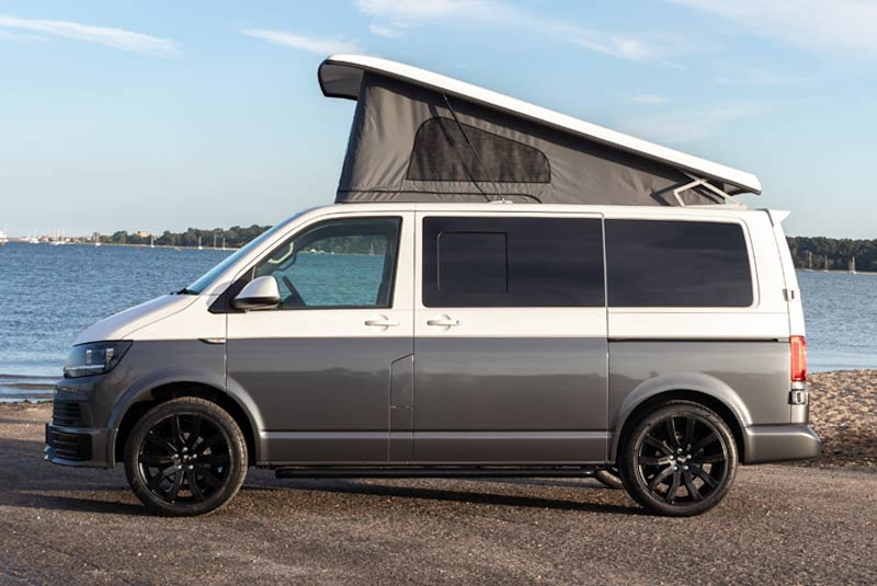 VW Transporter T6 140bhp Camper SWB - Left Side Roof Up