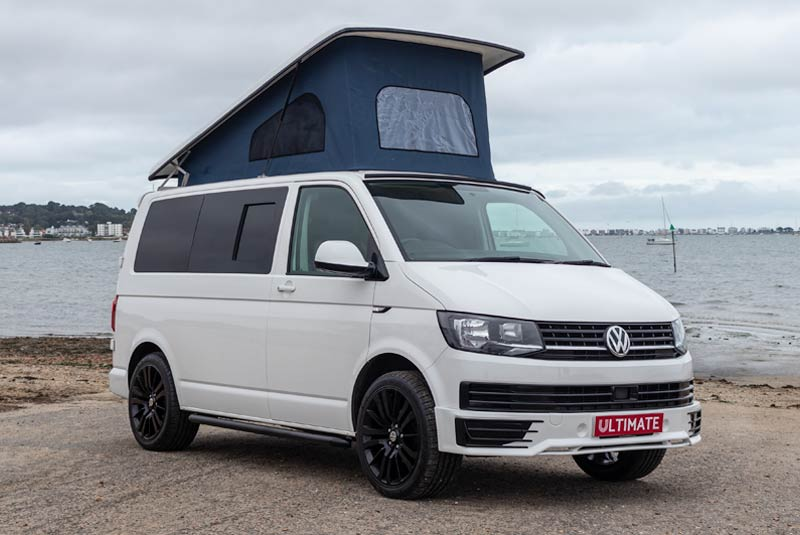 VW Transporter T6 140bhp Camper SWB - Front Right Roof Up