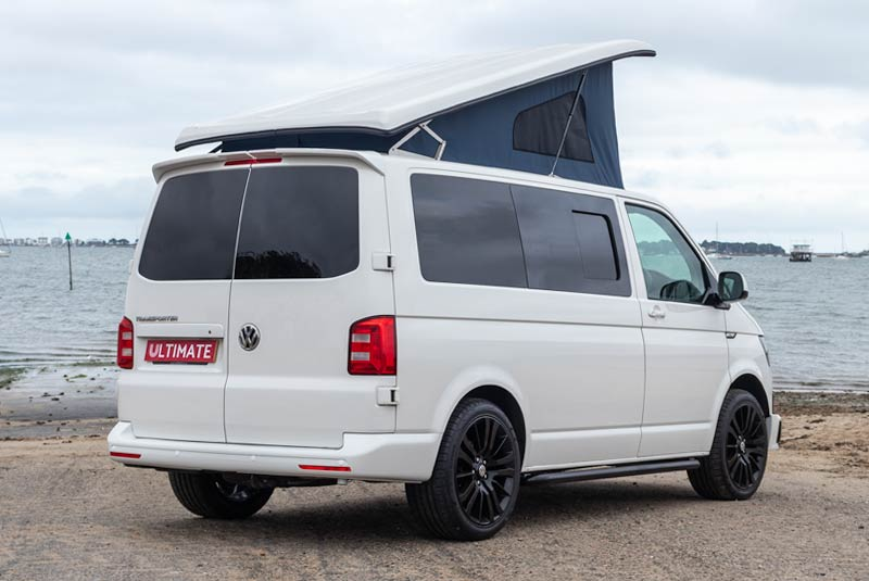 VW Transporter T6 140bhp Camper SWB - Rear Right Side Roof Up