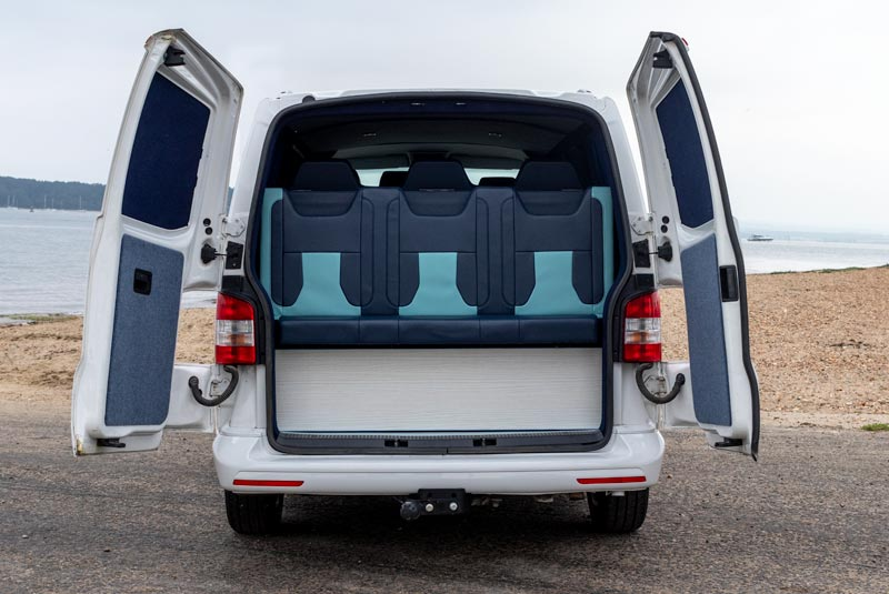 VW Transporter T5 125bhp Camper - Rear Doors Open