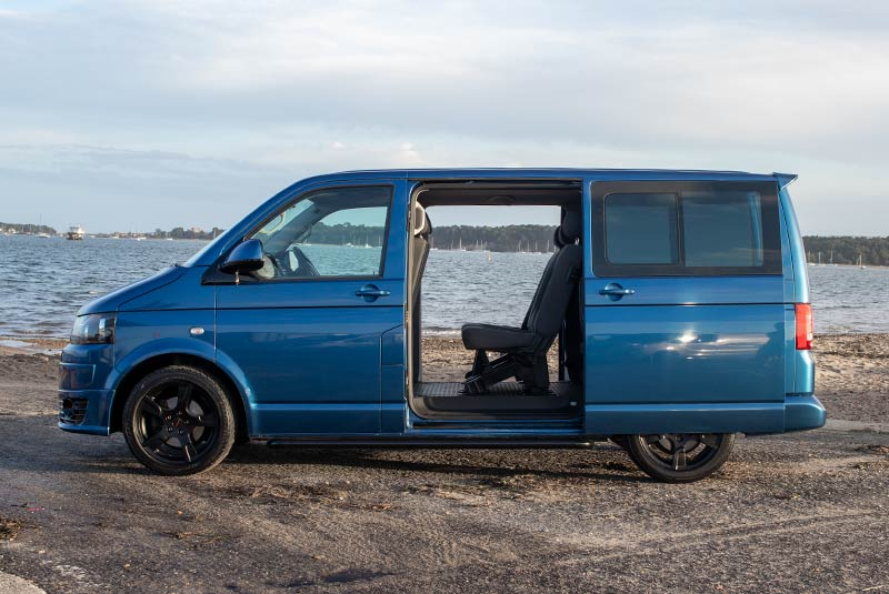 VW Transporter T5 125bhp Caravelle SWB - Left Side Doors Open
