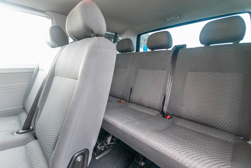 VW Transporter T5 125bhp Caravelle SWB - Rear Seats