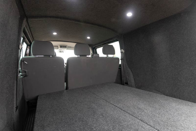 VW Transporter T5 180bhp Kombi SWB - Rear Interior