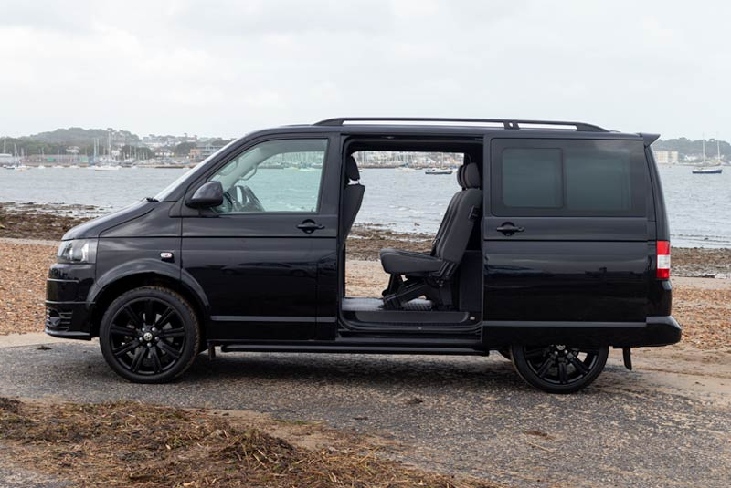 VW Transporter T5 180bhp Kombi SWB - Left Side Doors Open