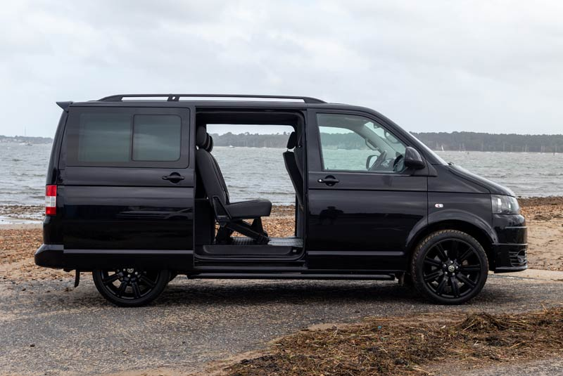 VW Transporter T5 180bhp Kombi SWB - Right Side Doors Open