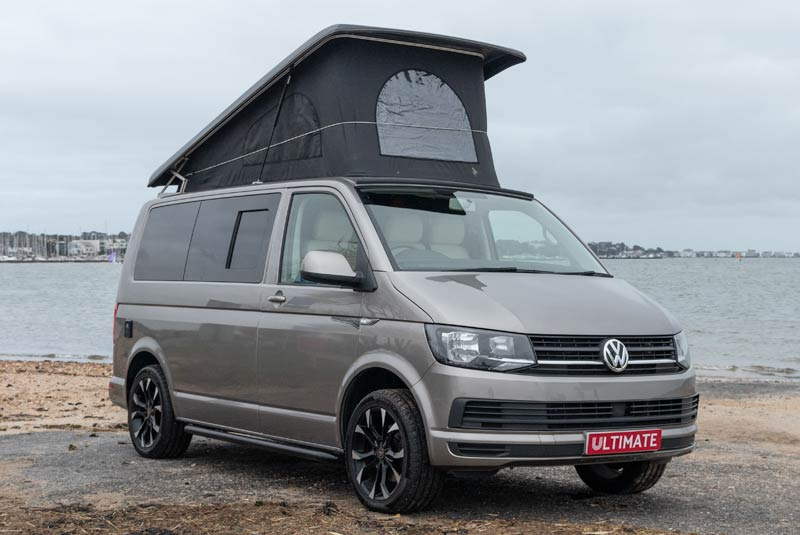 Transporter T6 140bhp Camper Van SWB - Front Right Roof Up