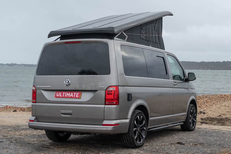 Transporter T6 140bhp Camper Van SWB - Rear Right Side Roof Up